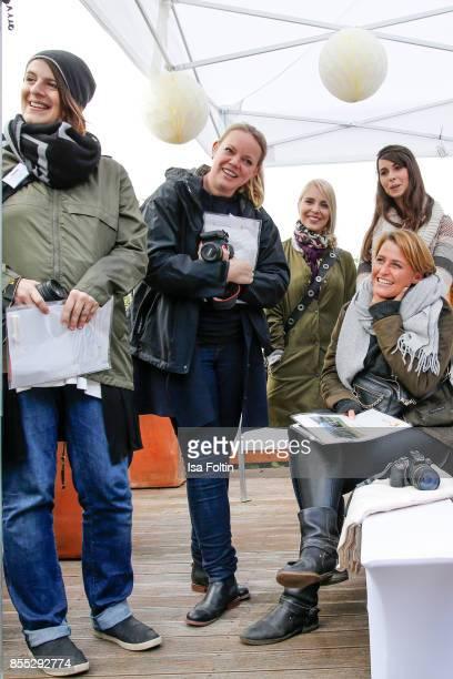 Blogger Yvonne Homann blogger Rebekka Grunwald blogger Mona Kleesiek and Sarah Kleiss and blogger Annalena Huppert during the Purina and Vita Event...
