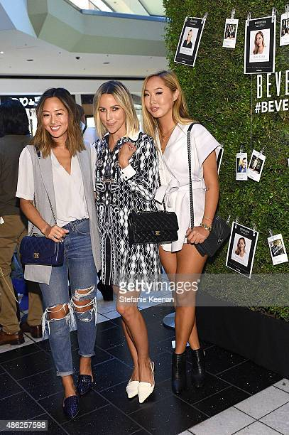 Bloggers Aimee Song Jacey Duprie and Dani Song attend Beverly Center 'Show Us Your Style' Challenge 2015 at Beverly Center on September 2 2015 in Los...