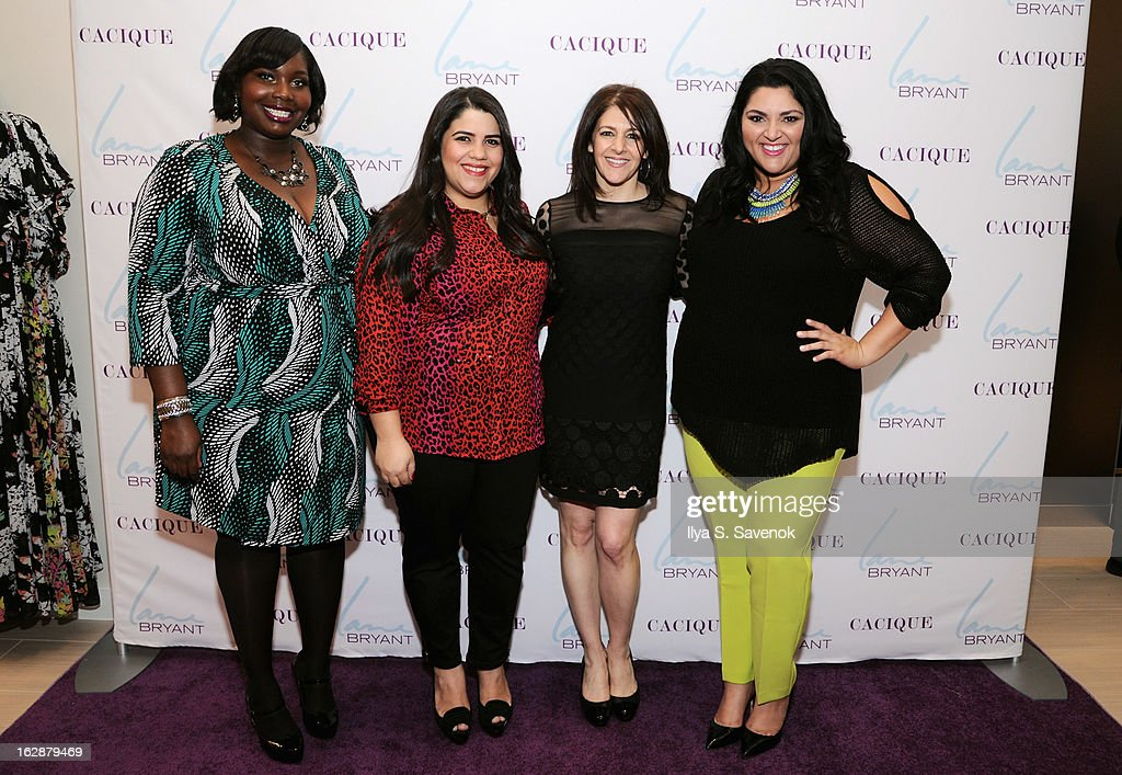 Bloggers Alissa Wilson, Ashley Falcon, SVP & Chief Marketing Officer Liz Crystal and blogger Marcy Guevara attend Carnie Wilson & Jay Manuel Celebrate Lane Bryant's NYC Flagship on February 28, 2013 in New York City.