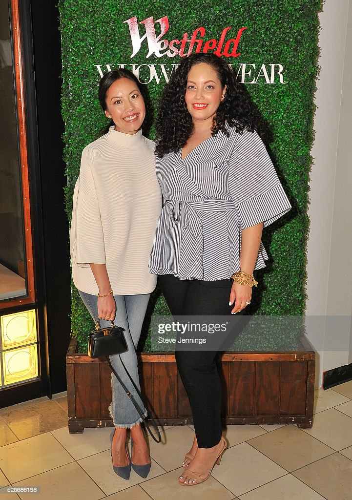 Bloggers Anh Sundstrom and Tanesha Awasthi attend the Westfield x Who What Wear Presents: Boss Notes at Westfield Valley Fair event at Westfield Valley Fair on April 30, 2016 in Santa Clara, California.