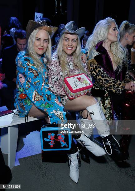 Bloggers Cailli Beckerman and Sam Beckerman attend Jeremy Scott collection during the September 2017 New York Fashion Week The Shows on September 8...
