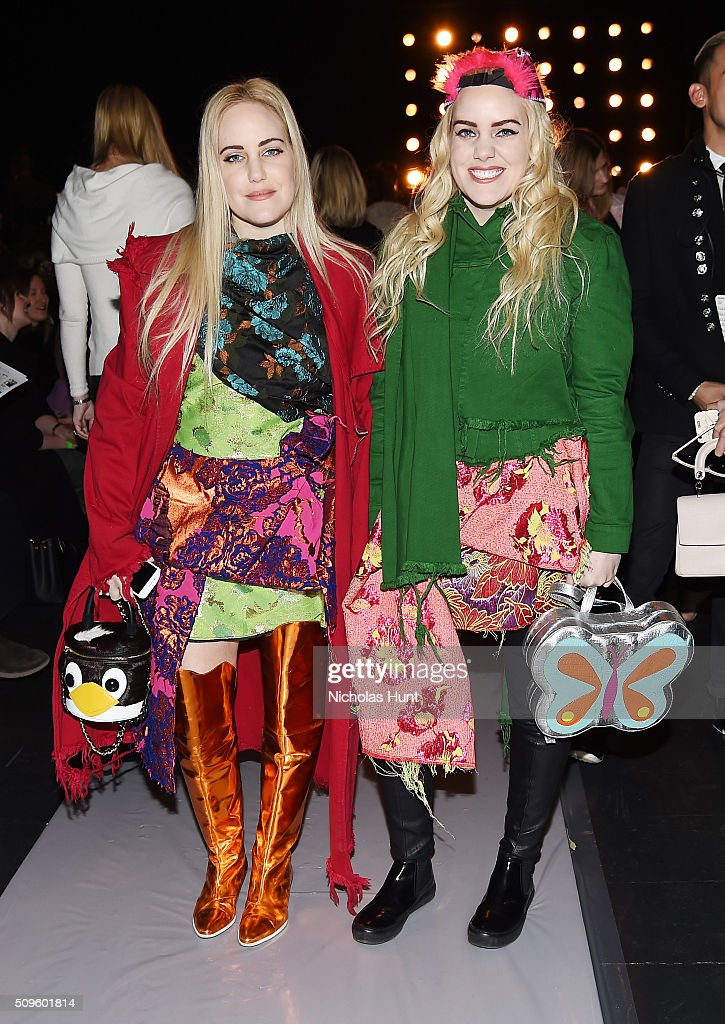 Bloggers Cailli Beckerman, Sam Beckerman attend the BCBGMAXAZRIA show during Fall 2016 New York Fashion Week: The Shows at The Arc, Skylight at Moynihan Station on February 11, 2016 in New York City.
