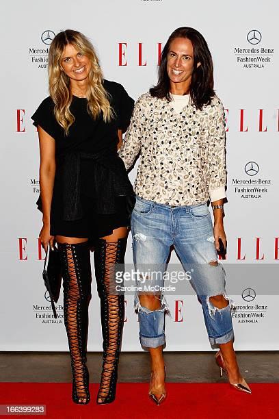 Bloggers Elle Ferguson and Tash Sefton arrive at the Hello Elle Australia show during MercedesBenz Fashion Week Australia Spring/Summer 2013/14 at...
