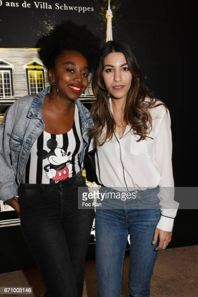 Bloggers Fatou Ndiaye and Fadela MecheriÊattend 'Tonic Follies' Villa Schweppes Before Cannes Festival Party at Foundation Mona Bismarck on April 20...