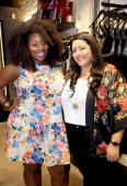 Bloggers Ivory Jinelle and Monique Frausto attend the City Chic Exclusive Preview First US Store Culver City at Westfield Culver City Shopping Mall...