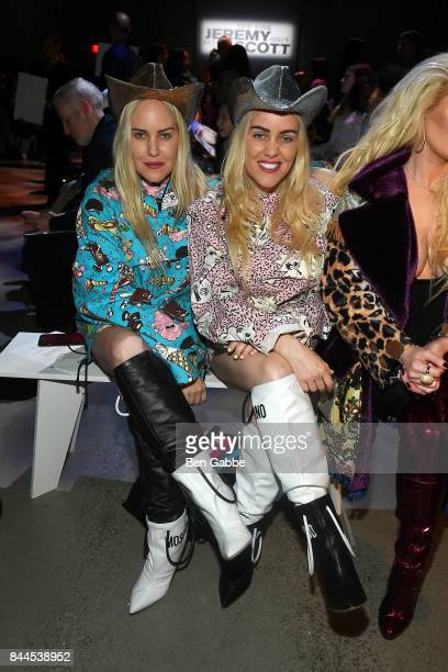 Bloggers Sam Beckerman and Cailli Beckerman attend the Jeremy Scott Fashion Show during New York Fashion Week at Spring Studios on September 8 2017...