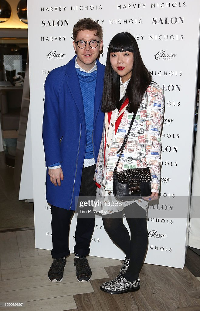 Bloggers Steve Salter and Susie Lau aka Susie Bubble attend the launch of 1205 Paula Gerbase Hosted By Harvey Nichols ahead of the London Collections: MEN AW13 at Harvey Nichols on January 6, 2013 in London, England.