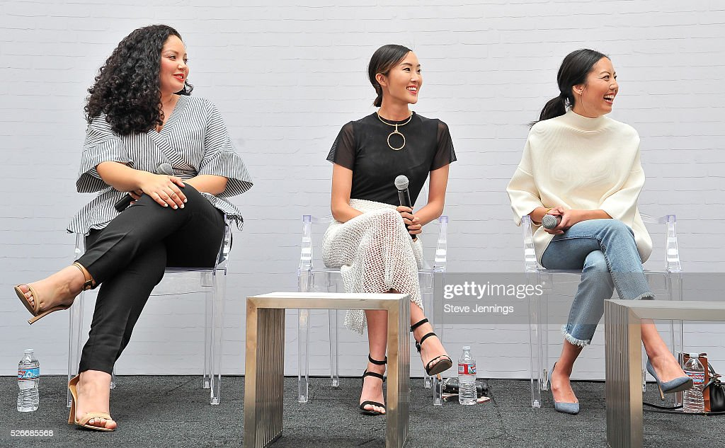 Bloggers Tanesha Awasthi, Chriselle Lim and Anh Sundstrom attend the Westfield x Who What Wear Presents: Boss Notes at Westfield Valley Fair event at Westfield Valley Fair on April 30, 2016 in Santa Clara, California.