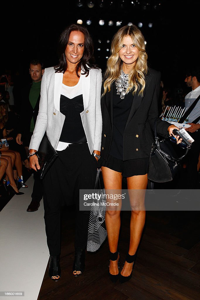 Bloggers Tash Sefton & Elle Ferguson attend the Camilla and Marc show during Mercedes-Benz Fashion Week Australia Spring/Summer 2013/14 at Carriageworks on April 8, 2013 in Sydney, Australia.