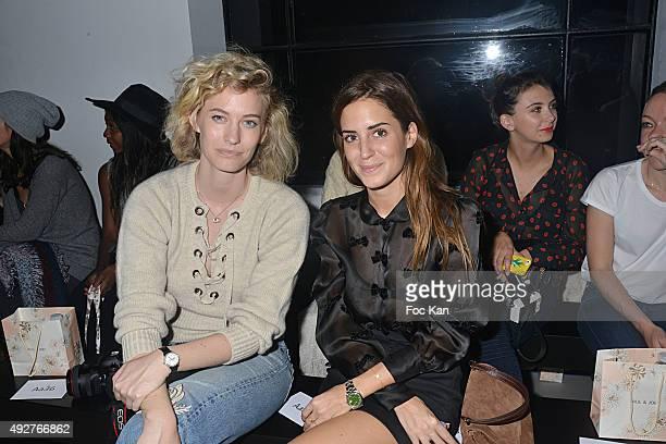 Bloggers Zanita Whittington and Gala Gonzalez attend the Paul and Joe Show Front Row as part of the Paris Fashion Week Womenswear Spring/Summer 2016...