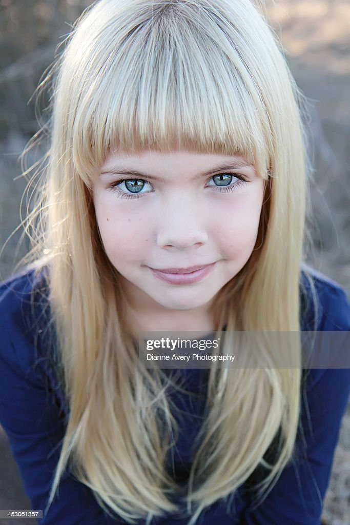Blue eyed hairy girl