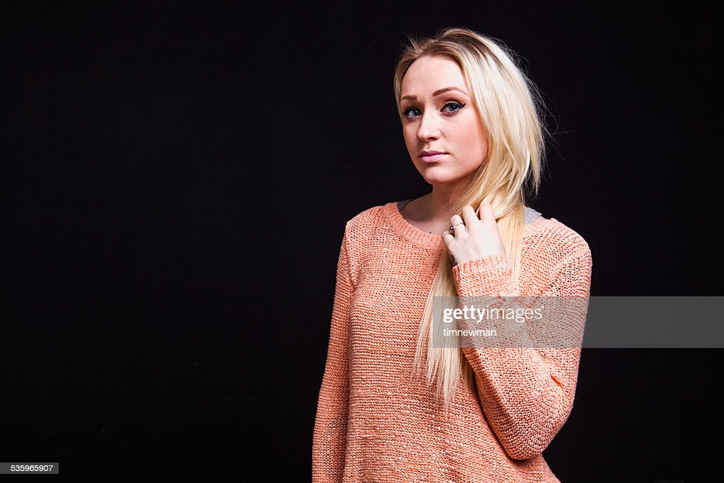 Blond Young Woman Fashion Portrait : Stock Photo