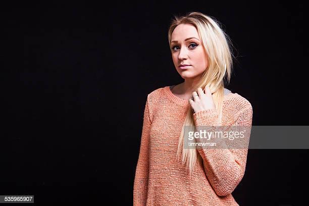 Blonden jungen Frau Mode Portrait
