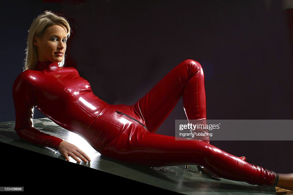 Think, blonde latex catsuit words