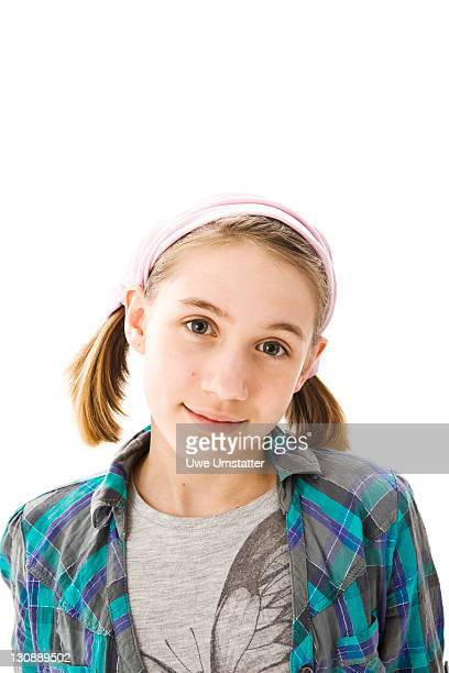 Blonde girl with pigtails and a headband