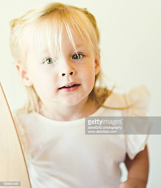Blonde two year old girl