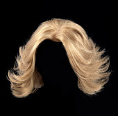 blonde wig for women on a black background