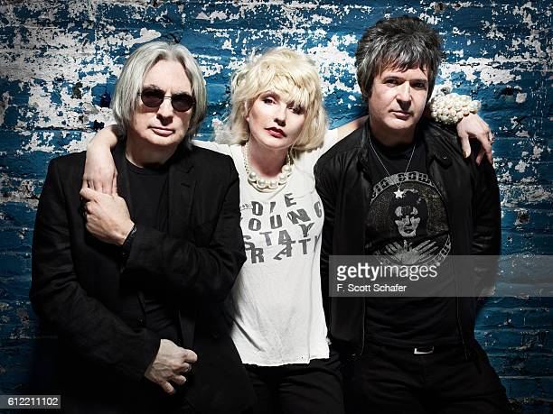 Blondie (Chris Stein, Deborah Harry and Clem Burke) are photographed on April 18, 2011 in New York City.