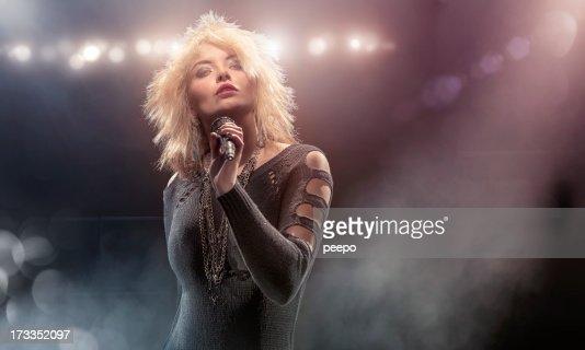 Blondie Lookalike Singer on Stage