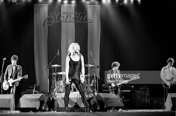 Blondie perform at the Hammersmith Odeon in London 1978