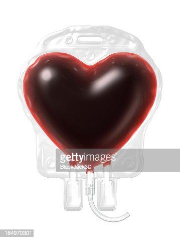 Blood Bag. Donate Concept