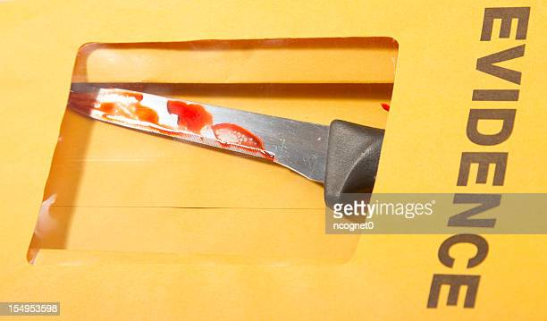 Blood covered knife