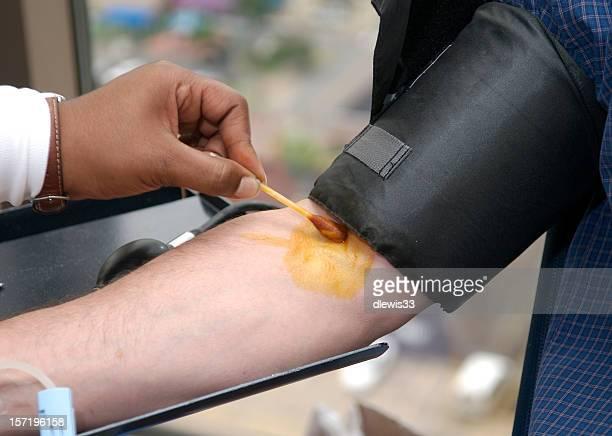Preparação de dadores de sangue