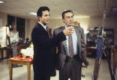 LAW ORDER 'Blood Libel' Episode 9 Air Date Pictured Benjamin Bratt as Detective Rey Curtis Jerry Orbach as Detective Lennie Briscoe Photo by Jessica...