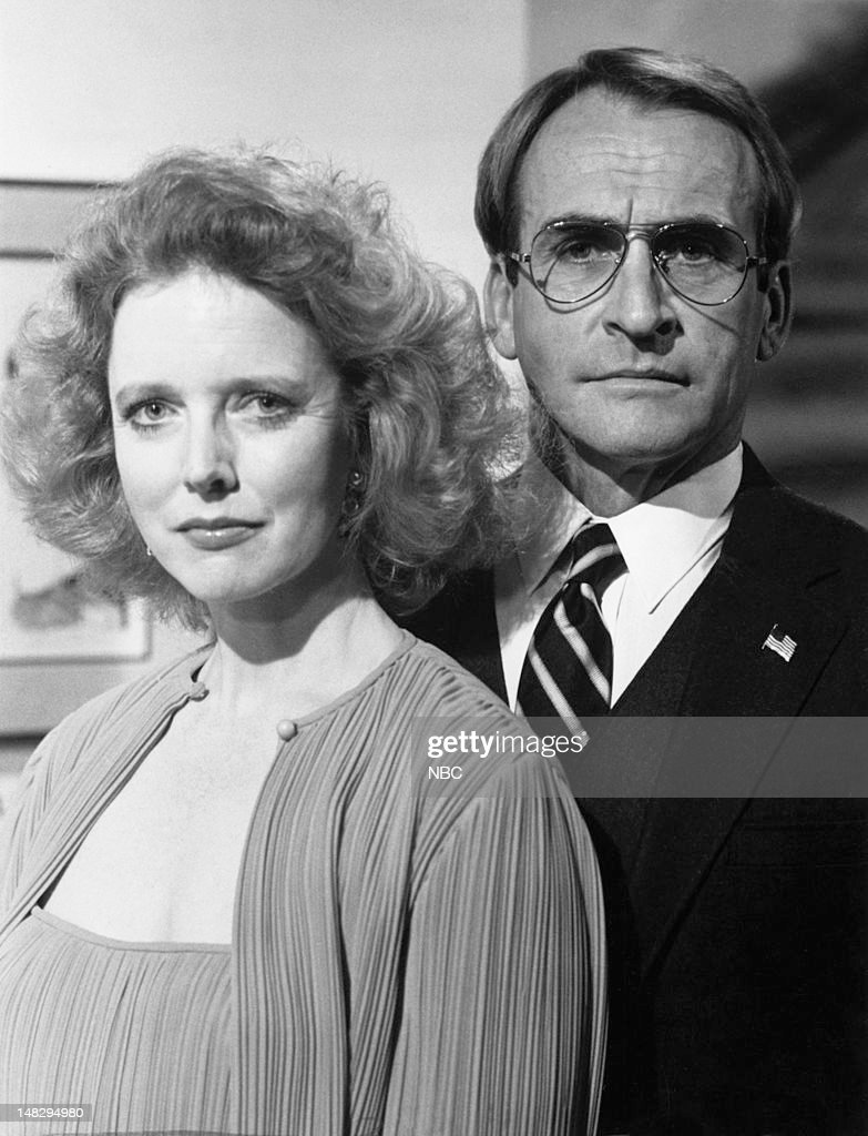 BLUES -- 'Blood Money' Episode 202 -- Pictured: (l-r) Barbara Babcock as Grace Gardner, James B. Sikking as Lt. Howard Hunter --
