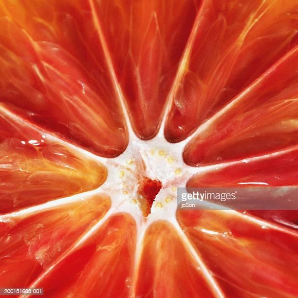 Blood orange slice, detail