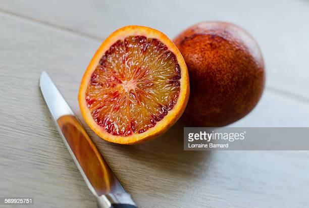 Blood Orange (Cirtus sinensis) Sliced