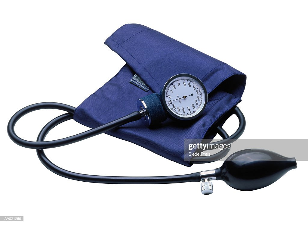 Blood Pressure Gauge and Cuff : Stock Photo