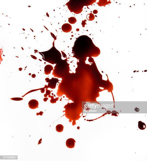 Splat sangre sobre fondo blanco