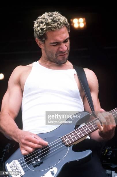 Bloodhound Gang bassist Evil Jared Hasselhoff performs on stage United Kingdom 2000