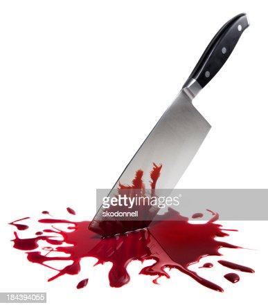 Bloody Macellaio coltello su bianco