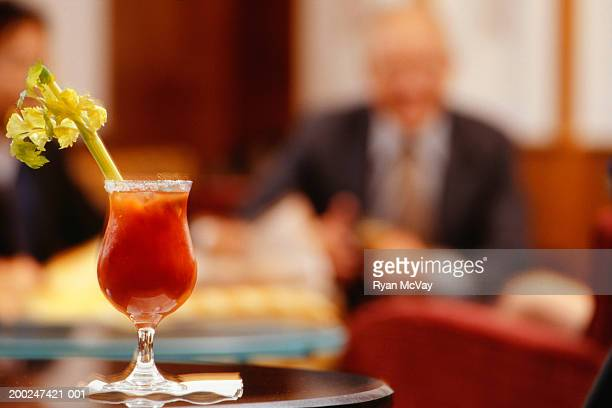 Bloody Mary cocktail on table in restaurant