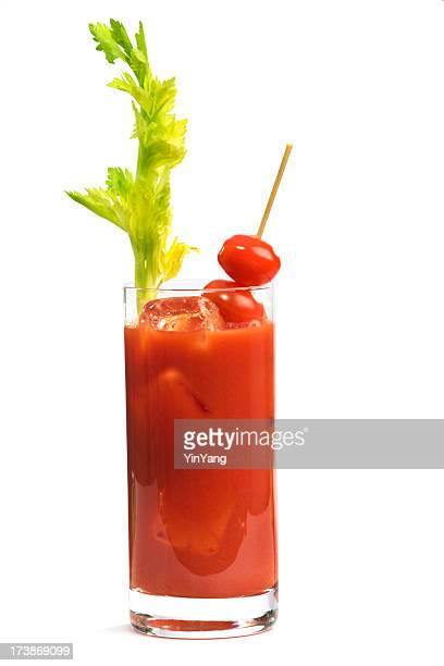 Bloody Mary cocktail with Celery & Tomatoes, a Breakfast Drink