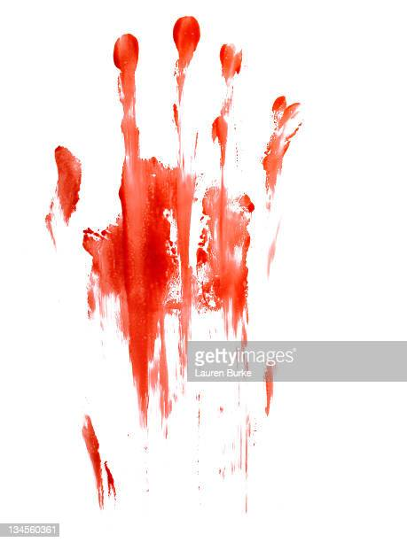 Bloody Smeared Handprint
