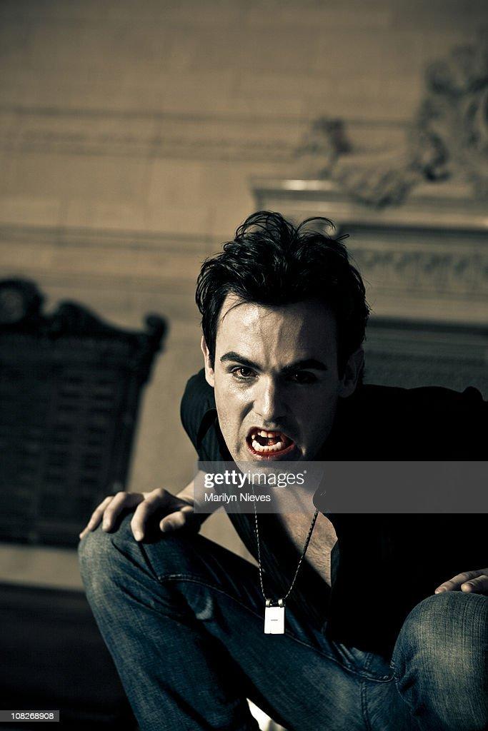 bloody teeth : Stock Photo