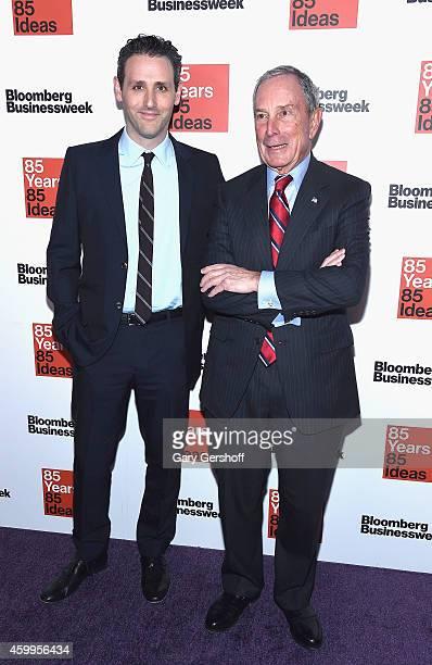Bloomberg Businessweek editor Josh Tyrangiel and former New York City Mayor Michael R Bloomberg attend Bloomberg Businessweek's 85th Anniversary...