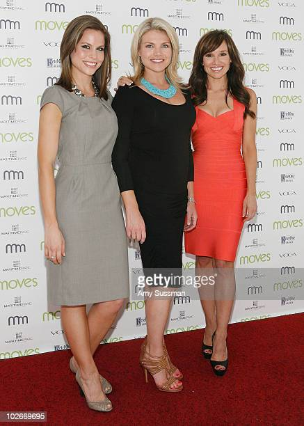 Bloomberg reporter Cali Carlin Good Day WakeUp cohost Heather Nauert and cohost of LX TV Sara Gore attend Moves Summer 2010 at Studio 450 on July 6...