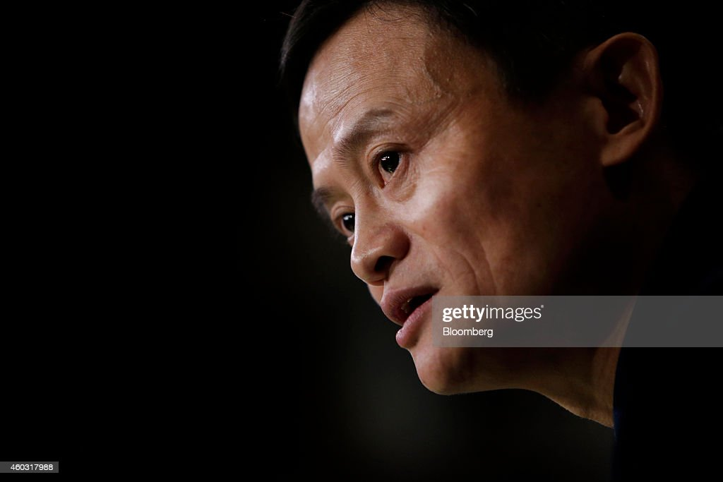 Bloomberg's Best Photos 2014: Billionaire <a gi-track='captionPersonalityLinkClicked' href=/galleries/search?phrase=Jack+Ma&family=editorial&specificpeople=2110288 ng-click='$event.stopPropagation()'>Jack Ma</a>, chairman of Alibaba Group Holding Ltd., speaks during an interview on the floor of the New York Stock Exchange (NYSE) in New York, U.S., on Friday, Sept. 19, 2014. Alibaba Group Holding Ltd., the e-commerce company started in 1999 with $60,000 cobbled together by Ma, cemented its status as a symbol of China's economic emergence by raising $21.8 billion in a U.S. initial public offering. Photographer: Scott Eells/Bloomberg via Getty Images