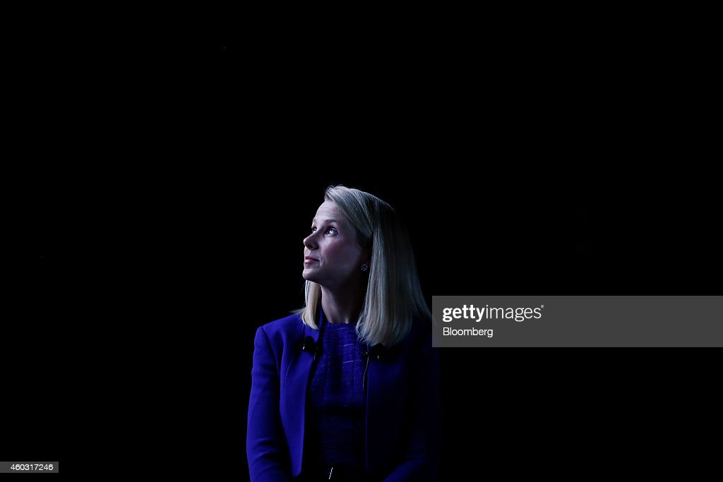 Bloomberg's Best Photos 2014: <a gi-track='captionPersonalityLinkClicked' href=/galleries/search?phrase=Marissa+Mayer&family=editorial&specificpeople=5577875 ng-click='$event.stopPropagation()'>Marissa Mayer</a>, chief executive officer of Yahoo! Inc., looks on at the Cannes Lions International Festival Of Creativity in Cannes, France, on Tuesday, June 17, 2014. The Cannes Lions International Festival of Creativity, formerly the International Advertising Festival, attracts thousands of delegates working in the creative communications, advertising and related fields, and runs from June 15 to June 21. Photographer: Simon Dawson/Bloomberg via Getty Images