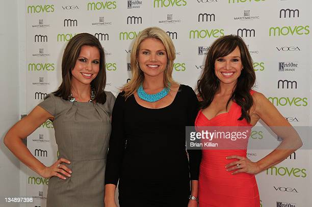 Bloomberg's Cali Carlin Fox's Heather Nauert and NBC's Sara Gore attend Moves Summer 2010 at Studio 450 on July 6 2010 in New York City