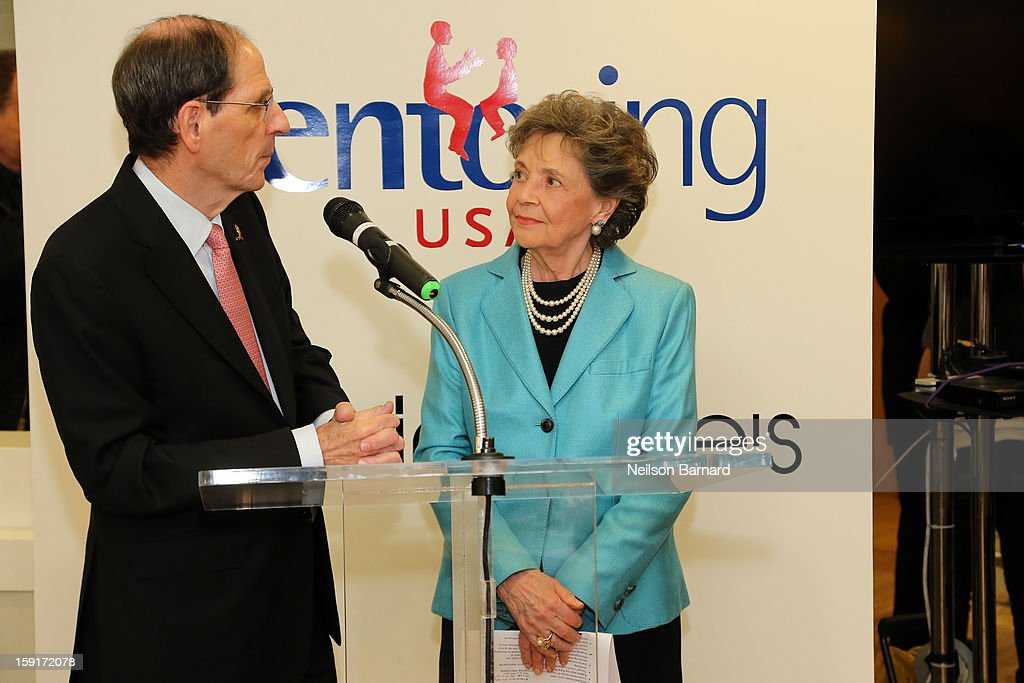 Bloomingdale's CEO Michael Gould (L) and Mentoring USA Founder Matilda Cuomo attend Bloomingdale's 59th St. and Mentoring USA's celebration of National Mentoring Month on January 9, 2013 in New York City.