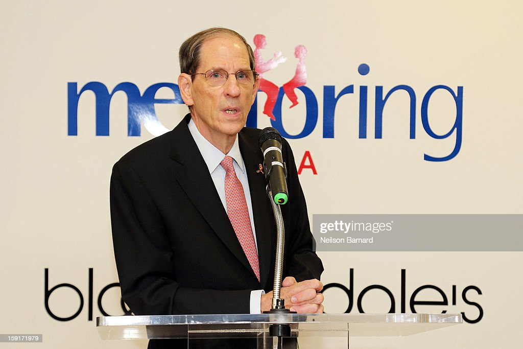 Bloomingdale's CEO Michael Gould attends Bloomingdale's 59th St. and Mentoring USA's celebration of National Mentoring Month on January 9, 2013 in New York City.