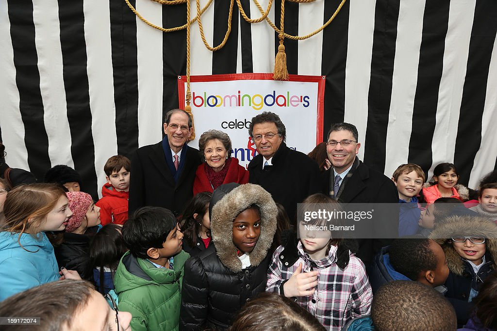 Bloomingdale's CEO Michael Gould, Mentoring USA Founder <a gi-track='captionPersonalityLinkClicked' href=/galleries/search?phrase=Matilda+Cuomo&family=editorial&specificpeople=651332 ng-click='$event.stopPropagation()'>Matilda Cuomo</a>, Pix11 Weatherman Mr G and Bloomingdale's President Tony Spring attend Bloomingdale's 59th St. and Mentoring USA's celebration of National Mentoring Month on January 9, 2013 in New York City.