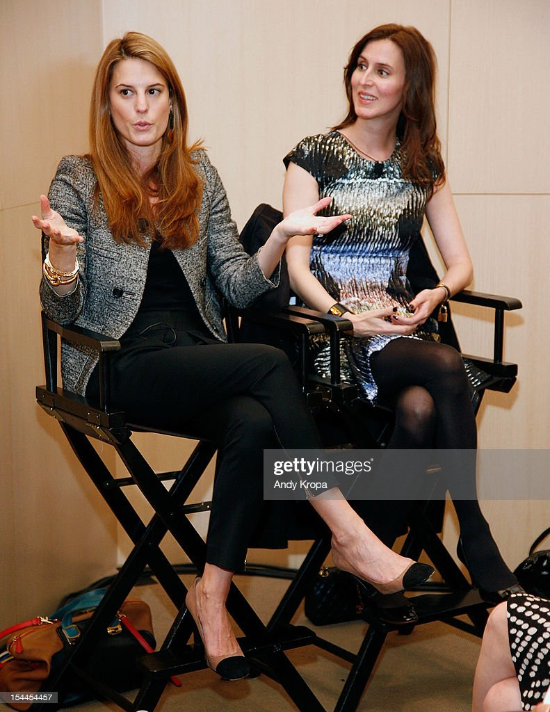 Bloomingdale's Director of Fashion Accessories Brooke Jaffe and Senior Fashion Director for Saks Fifth Avenue Colleen Sherin speak at the 7th Annual Teen Vogue Fashion University at the Conde Nast building on October 20, 2012 in New York City.