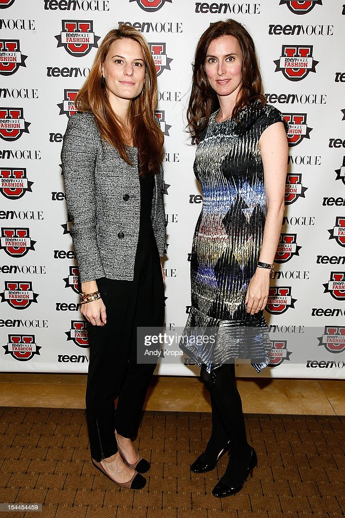 Bloomingdale's Director of Fashion Accessories Brooke Jaffe and Senior Fashion Director for Saks Fifth Avenue Colleen Sherin attend the 7th Annual Teen Vogue Fashion University at the Conde Nast building on October 20, 2012 in New York City.