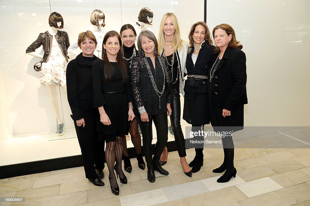 Bloomingdale's EVP/GMM Cosmetics, Fashion Accessories, and Fine Jewelry Francine Klein, Lori Hall, Debra Perelman, Brooke Garber Neidich, Christine Mack, Marcia Mishaan and Bloomingdale's SVP Public Relations Anne Keating attend Bloomingdale's celebration of the newly renovated Chanel RTW Boutique at Bloomingdale's 59th Street Store on January 24, 2013 in New York City.